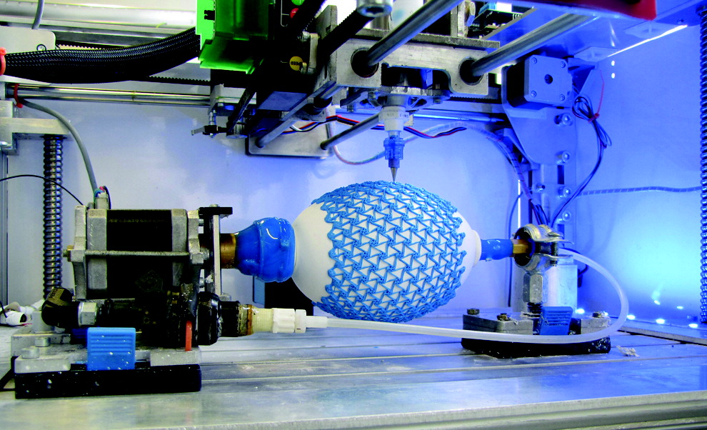 4D printing artificial muscles